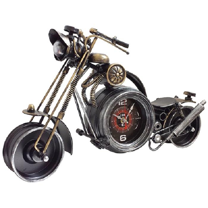 קאסטום קלוק שעון מתכת שולחני אופנוע