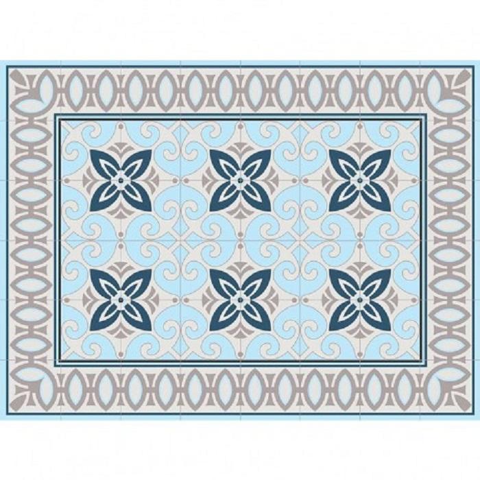 שטיח PVC אפור טורקיז