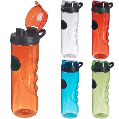 """""""אתלטיקו"""" בקבוק ספורט פלסטי עם פיה רחבה ומאחז יד ארגונומי מבית H2O"""